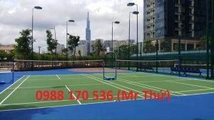 Thi cong san tennis