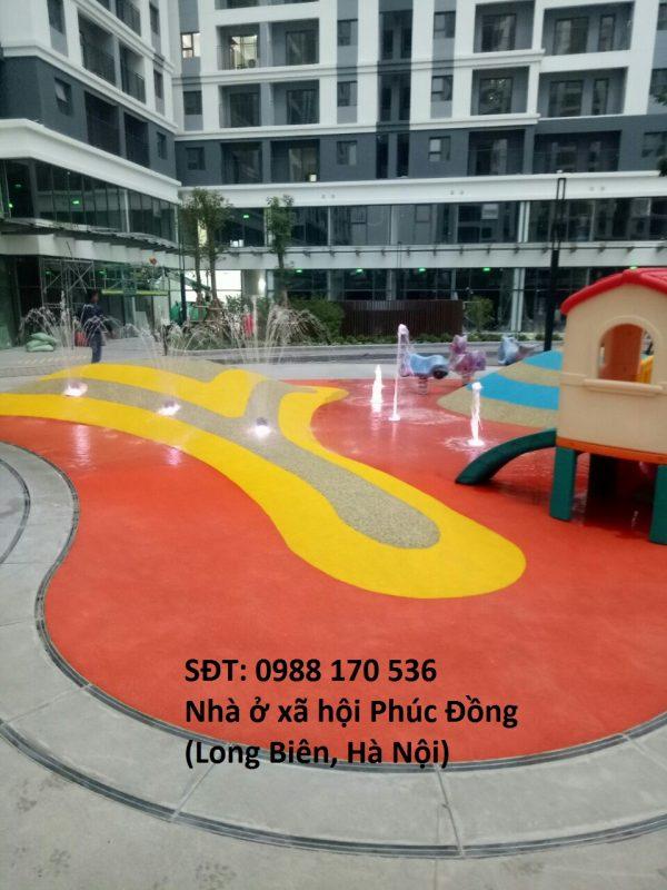 Thi công sân chơi trẻ em tạiNhà ở xã hội Phúc Đồng, Long Biên