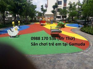 thi công Sân chơi trẻ em tại Gamuda (Hà Nội)